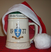Sigma Chi mug with Santa hat
