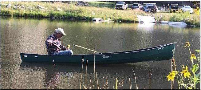 Bill Gurry 73 fishing in Wyoming.