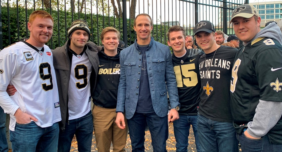 Drew Brees with Purdue Sigma Chis