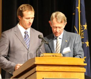 Jim Vruggink and Drew Brees