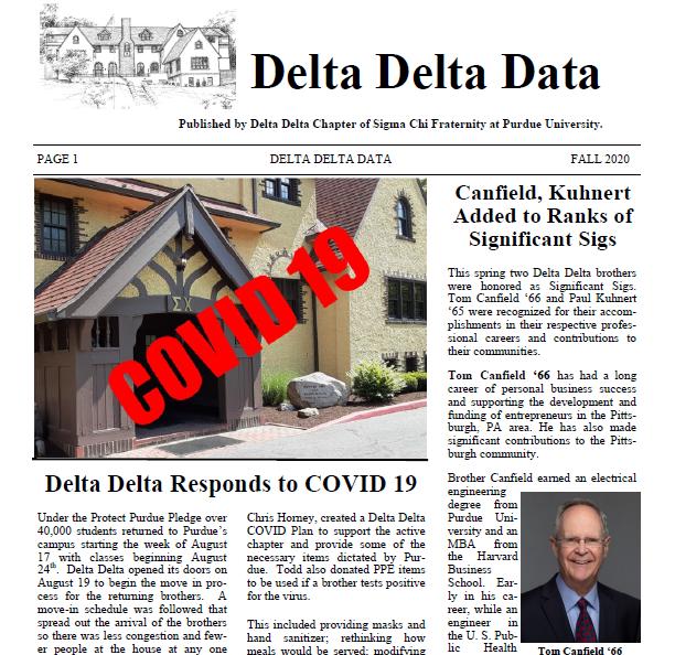 Fall 2020 Delta Delta Data