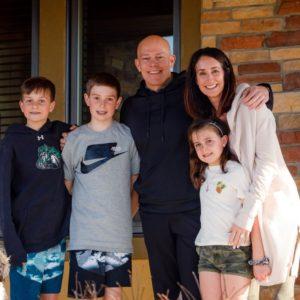 photo of Scott Hutton family