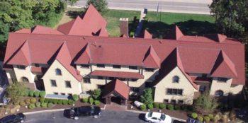 Aerial view Purdue Sigma Chi house