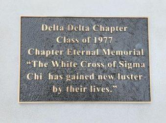 Class of '77 Chapter Eternal Memorial plaque